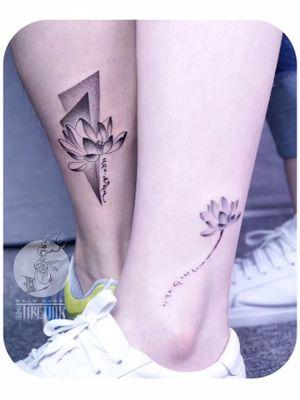 放在一起拍很好看呢....... #lotus #lotustattoo #lotustattoos   #tattooartist #tattoo #tattooart #watercolor #watercolortattoo #watercolortattoos #watercolour #girlswithtattoos #girltattoo #tiny #tinytattoo #tinytattoos  #lovely #lovelytattoo #tibetantattoo #Tibetan @moxiyeah@tattoodo #lovers #cupletattoo #dotwork #dot #dotworktattoo #blackwork #blackworktattoo #BlackworkTattoos #ankle #ankletattoo #tattooformylove