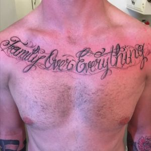 #tattoolettering #chesttAttoo #scripttattoo #lettering