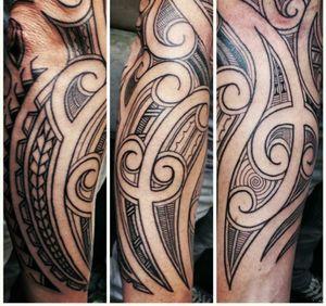 Done by Jarno Theijn - Resident Artist.                          #tat #tatt #tattoo #tattoos #amazingtattoo #ink #inked #inkedup #amazingink #inklovers #maori #maoritattoo #maoristyle #armtattoo #armtattoos #armsleeve #amazingart #art #culemborg #netherlands