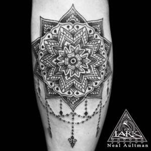 Tattoo by Lark Tattoo artist Neal Aultman.  #tattoo #mandalatattoo#mandala #blackwork #blackworktattoo #blackworkerssubmission #tattoos #tat #tats #tatts #tatted #tattedup #tattoist #tattooed #tattoooftheday #inked #inkedup #ink #tattoooftheday #amazingink #bodyart #tattooig #tattoosofinstagram #instatats  #larktattoo #larktattoos #larktattoowestbury #westbury