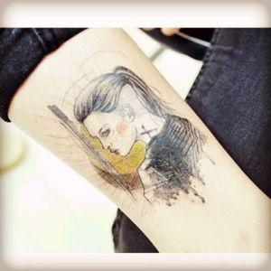Tattoo by corean artist Banul #awesome #greattattoo #followforfollow #wishitwasmine #color