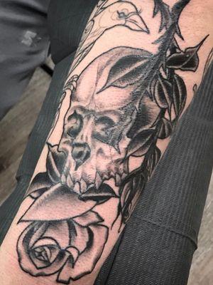 #blackandgreytattoo #blackandgrey #tattoooftheday