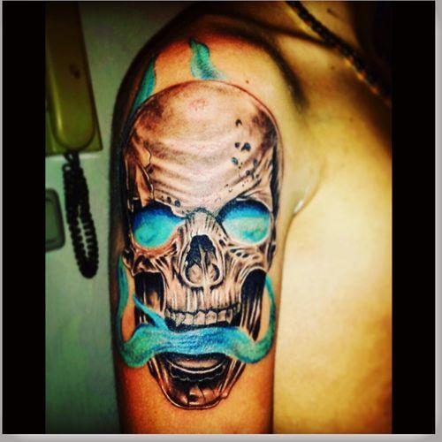 #newtattoo #skull #tattoolove