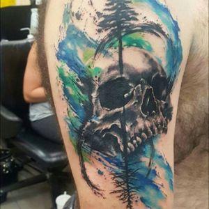 #skull #watercolor #SmelWink #victimsofink