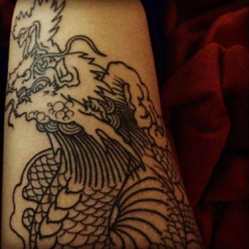 #dragoon #japanesestyle #switzerland #geneva #addinktattoo #firstsession #secondtattoo #sylvainaddinktatoo