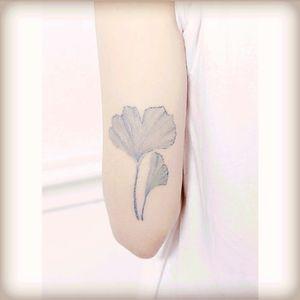 #leaf #flowers #blue #delicatetattoo