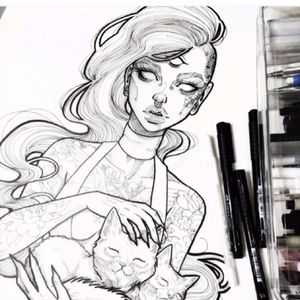 #thirdeye #sketch #cat #girl