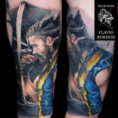 #realistic #wolverine tattooed by @SickOfTattoo #xmen #XMenTattoo #wolverinetattoo #superhero #realistictattoo #colourtattoo