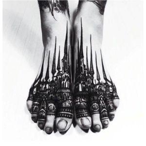 #foot #blackink #city #dreamtattoo