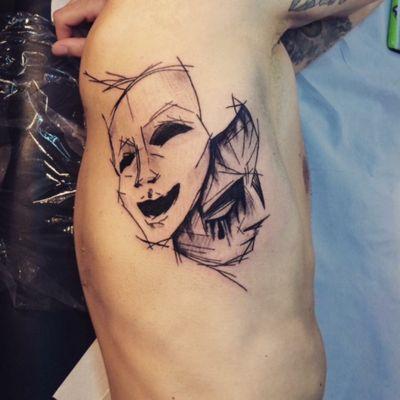 #masks #sketchtattoo