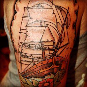 #traditional #oldschool #sailorjerry #ship #pirateshiptattoo