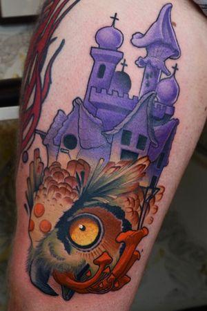 Psychedelic owl #owl #tattoo #psychedelic #tattoodoambassador