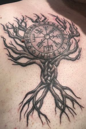 Celtic Tree of life with compass