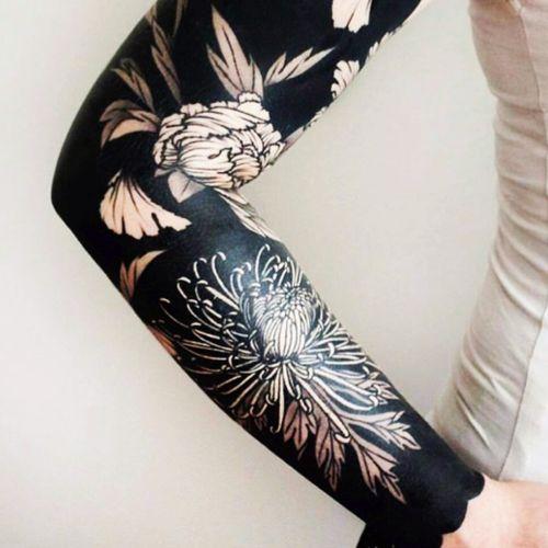 Love! #sleeve #blackwork #flowers