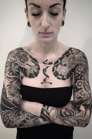 Arms #btattooing #blackboldsociety #blacktoptattooing #BLXCKINK #oldlines #tattoosandflash #darkartists #tattoosandflash #topclasstattooing #darkartists #thebesttattooartist #japanesetattoos #irezumitattoo #horimono #tatuaggiogiapponese #orientaltattoos #irezumcolletctive #waterlawtattoobutter #tattoodo #tattoodoambassador