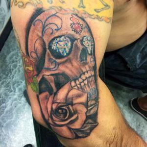 Skull tattoo #cricktattoos #dringenbergmachines #workhorseironswest
