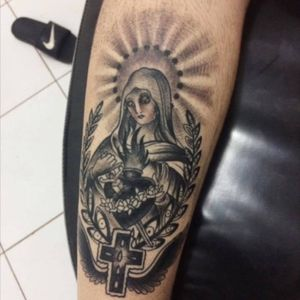 #traditional #NossaSenhora #nossasenhoraaparecida #traditional_tattoo #blackabdgrey