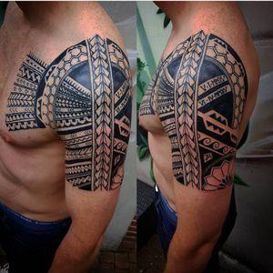 Done by Jarno Theijn - Resident Artist. #tat #tatt #tattoo #tattoos #amazingtattoo #ink #inked #inkedup #amazingink #sleeve #maori #maoritattoo #maoristyle #maoriart #maorishoulder #black #blackink #tattoolovers #inklovers #art #culemborg #netherlands