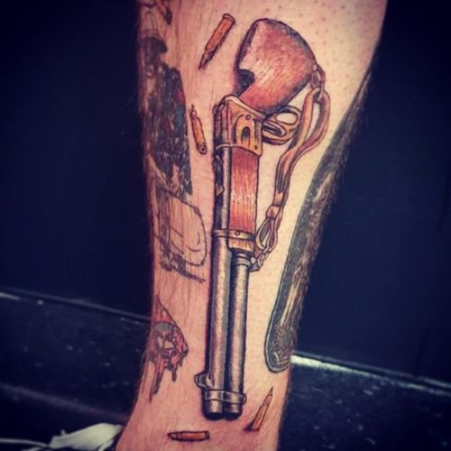 Winchester #rifle #tattoo #neotraditional #neotraditionaltattoo #color #colortattoo