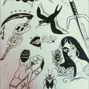 first tattoo flash #traditional #blacktattoo #satan #skull #eviltattoo