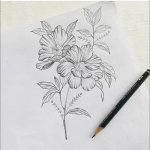 💐🌼 #flores #dibujolapiz