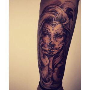 2nd Tattoo #diadelosmuertos #dayofthedead #sugarskullgirl