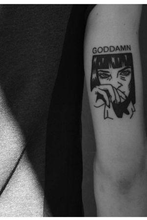 Uma Thurman - #GodDamn #PulpFiction #Mia #Drugs #GraphicNovel #Cartoon #Comic #Movie #Film #TastyBurger