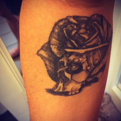 Life from death. Skull Rose.