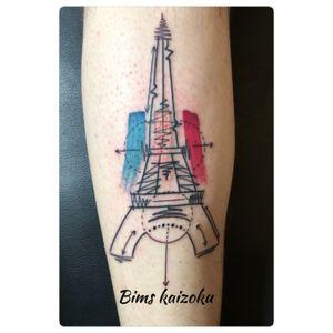 #bims #bimskaizoku #bimstattoo #toureiffel #monument #ladamedefer #bleublancrouge #tatouage #tattoo #paristattoo #tattoos #tattooed #tatted #tattooartist #tattooart #tatts #tattooer #tattoolife #tattooworkers #paris #paname #france #french