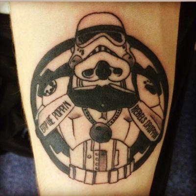 First piece I got, plan on having a full starwars themed sleeve #starwars #stormtrooper
