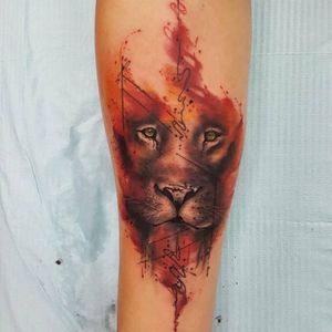 #lion #watercolor #watercolortattoo #animal #liontattoo