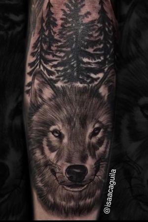 Wolf with trees #wolftattoo #blackandgrey #bnginksociety #inksav #inkstagram #tattoosnob #Tattoodo