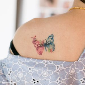 butterfly :) #watercolortattoo #butterflytattoo