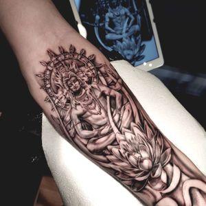 Lord shiva #lordshiva #destroyerofwar #Hinduism #hindutattoo #religioustattoo #lotustattoo #tattoooftheday