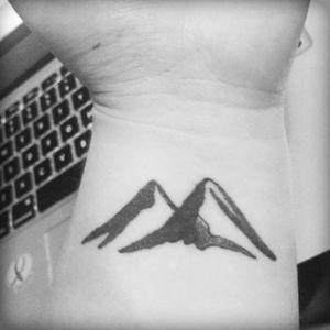 mountains #mountains #handdrawn #wrist #wristtattoo