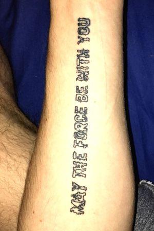 Movie quote #starwars #starwarstattoo #movie #quote #tattooblack