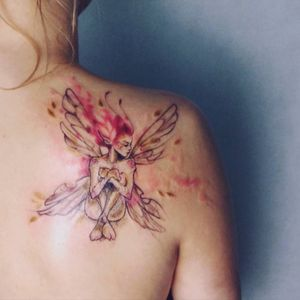 Cute fairy #fairy #watercolor