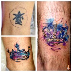 Nº297,325 #tattoo #tattoos #tatuaje #ink #inked #matchingtattoos #crown #crowntattoo #watercolor #watercolortattoo #colors #eternalink #eternaltattoo #cheyennetattooequipment #hawkpen #bylazlodasilva