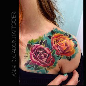 #roses #bishoprotary #fu#fusionink #realistic #sullen #sullenartcollective #color #Tattoodo