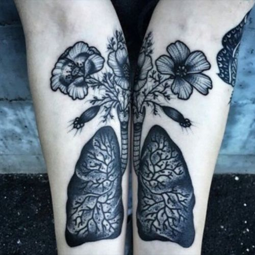 I'm hoping the meaning behind this alone will catch your eye. I'm currently saving every bit of my paycheck in order to see what this world has to offer. My goal is to travel with my fiancé in a motorhome so we can live life to the fullest. The flowers and lungs symbolize exactly how overall my experience with life has been like. Waking up everyday and seeing my beautiful world is overwhelming and breathtaking.  For me it's not the oxygen that keeps me going it really is nature at it's finest that keeps blood flowing in my veins and air in my lungs. I have one other tattoo that is symbolic to nature and I don't intend to stop there. It's worth a shot, I hope you choose me. #MEGANDREAMATTOO #megandreamtattoo