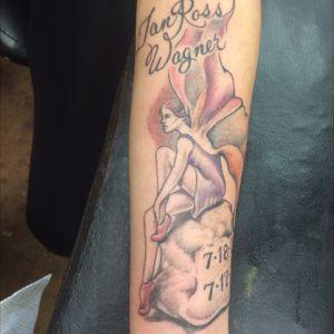 #TombstoneArtisans #fairy #rememberance #forearmtattoo #womentattoo #tattooedwomen