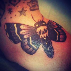 #tattoo #deathmoth #traditional_tattoo
