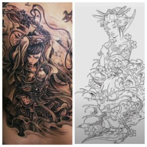 Another concept id love to get Tattooed ⚔ @amijames @tattoodo #warrior #dreamtattoo #amijames #samurai #ninja #onnabugeisha