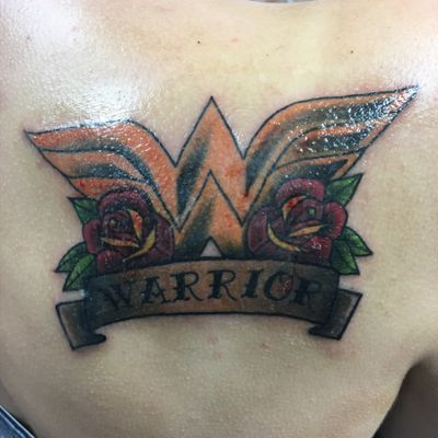 """""""I will fight for thise who cannot defend themselves!"""" #wonderwoman #warrior #12thtattoo #traditonal #neotraditional #inkedgirls"""