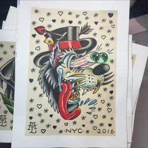 Howlin wolf. #tattooapprentice #tattooflash #anthonylowtattoos #traditionaltattoo #wolf