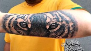 Tiger eyes tattoo, tatuaje de ojos de tigre. #tattoooftheday #tigertattoo #eyes #tigereyes #ojos #ojosdetigre #mexico #mexicocity