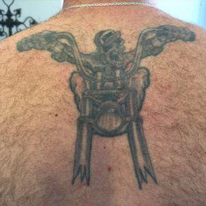 #blackandgrey #skeletontattoo #tattoo
