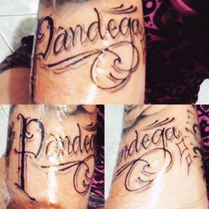 Done by Eric Fernandes Pândega = pessoa engraçadinha #pandega #rolliking #calligraphy #lovetattoobrasil #maricotacolorida
