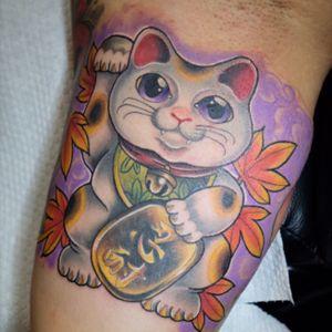 Fortune cat ❤️#fortunecatattoot#luckycattattoos#luckytattoo#cattattoo#japanesetattoo#orientaltattoo#hongkongtattoo