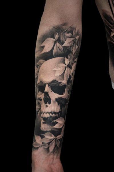 For more of my tattoos, check out www.instagram.com/bacanubogdan or www.Facebook.com/bacanu.bogdan.7 #BacanuBogdan #tattoooftheday #tattoo #blackandgrey #realism #realistic #tattooartist #sleeve #skull